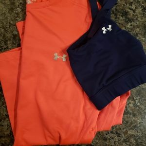 Under Armour Long Sleeve and Bra